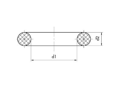 O-RING FPM 80 CORDA 5,33
