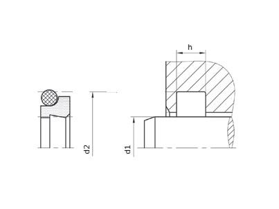 RASCHIAT. PTFE+NBR PROFILO RD/WE3/WTF-B