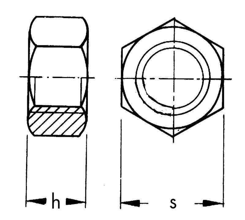 Dado Esagonale Alto UNI 5587 8(6S) Zinc
