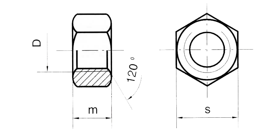 Dado Esagonale Medio UNI 5588 8(6S) Zinc
