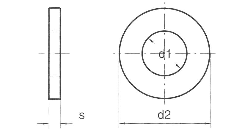 Rondella Grembialina UNI 6593 3D Zincata