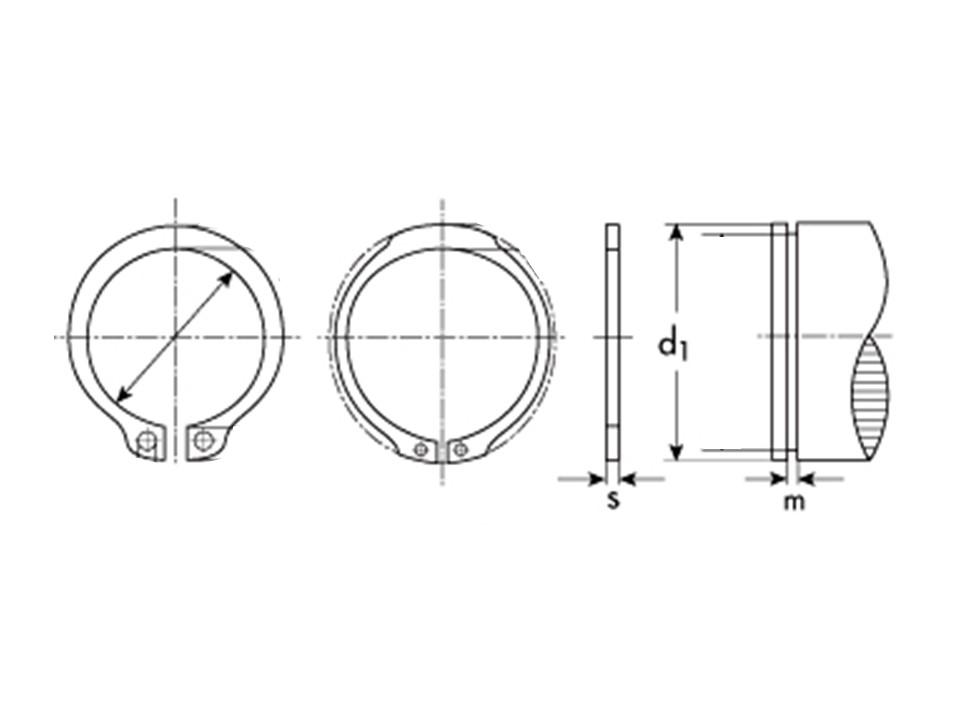 Anello Inox tipo A esterno UNI 7435