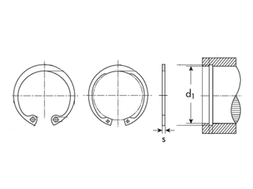 Anello Inox tipo A esterno UNI 7437