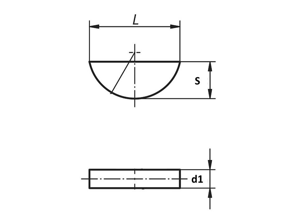 Linguetta a disco DIN 6888
