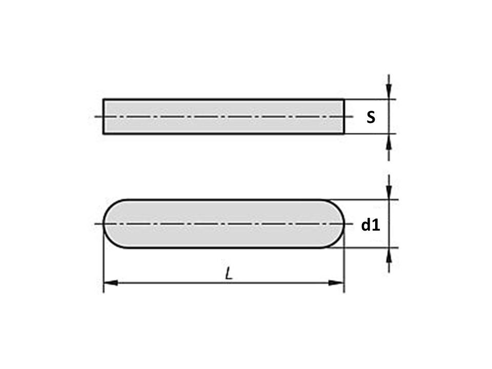 Linguetta DIN 6885 A Inox