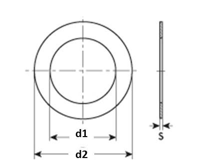 Rondella di supporto DIN 988 Serie SS