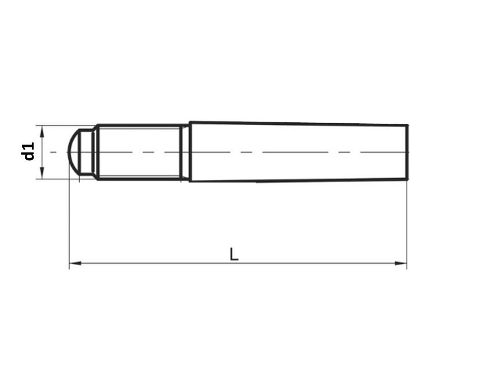 Spina conic gamb fil no temp UNI7286 h10