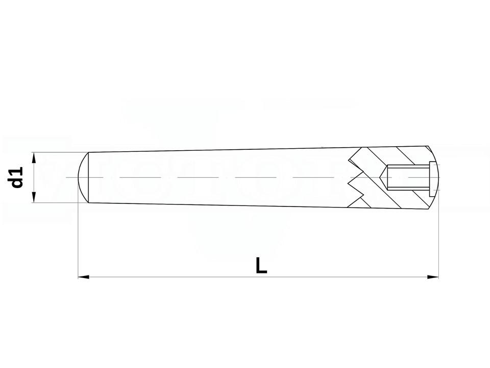 Spina Conic tempr c/foro fil UNI7284 h10