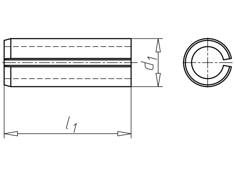 Spina Elastica Serie Leggera UNI 6874