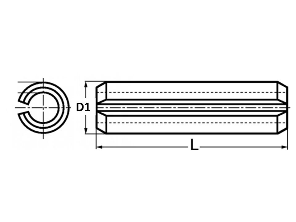 Spina Elast Serie Normale UNI 6873 Inox