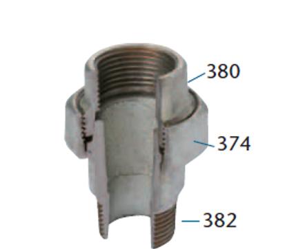 FIG. 341 - UNIONE SEDE CONICA M/F