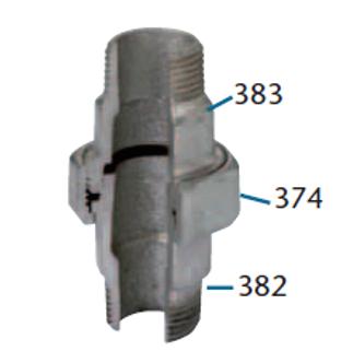 FIG. 344 - UNIONE SEDE CONICA M/M