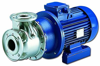 ESHS-Pompa centrif in inox, giunto elast