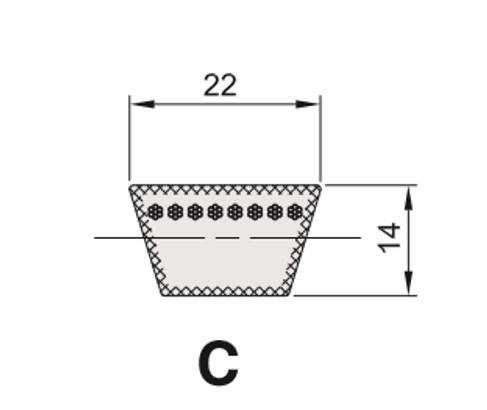 Cinghia Trapezioidale Sezione C
