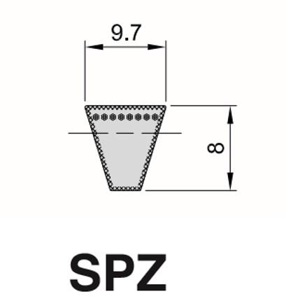 Cinghia Trapezioidale Sezione SPZ