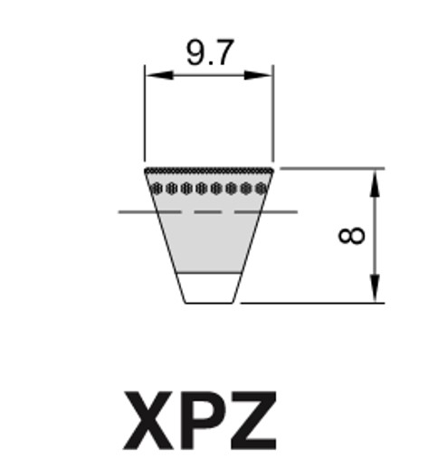 Cinghia Trapezioidale Sezione XPZ