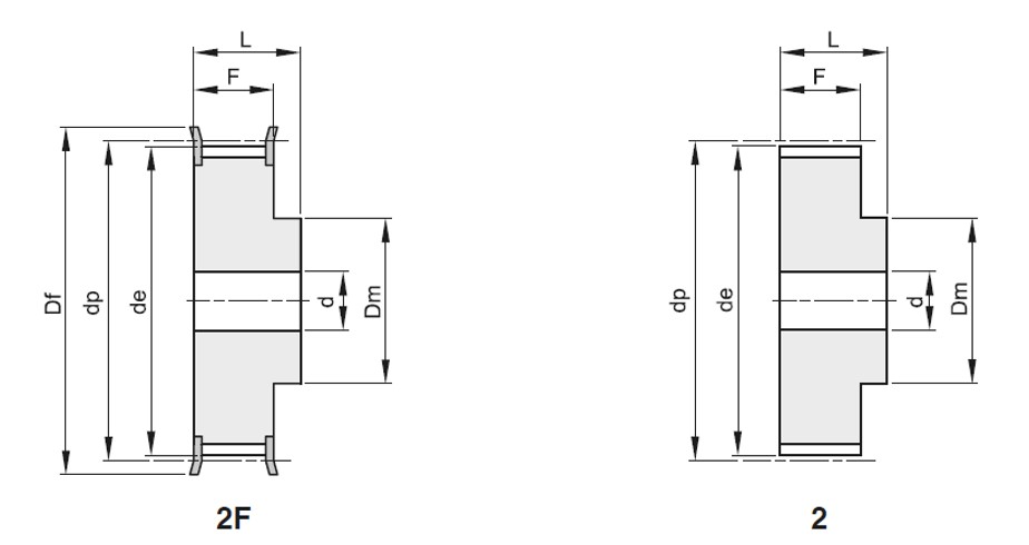 Pulegge passo 10mm X cingh AT larg 32mm