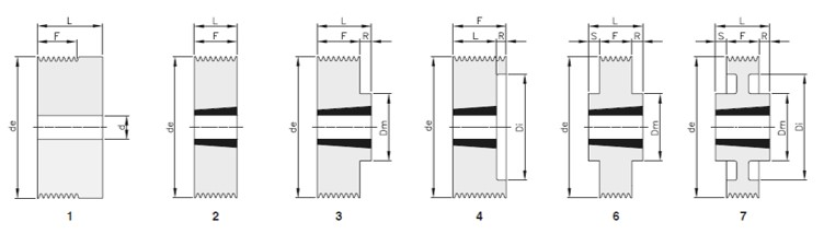 Pulegge scanalate Poly-V sez.J 16 gole