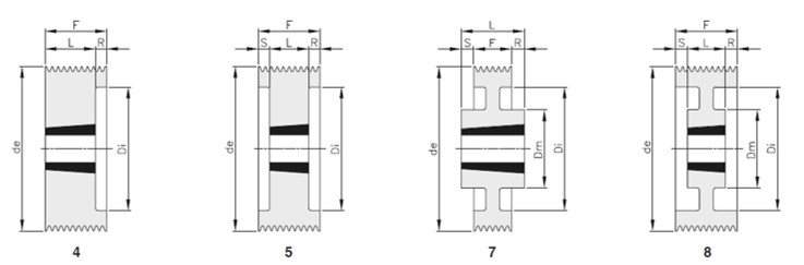 Pulegge scanalate Poly-V sez.L 12 gole