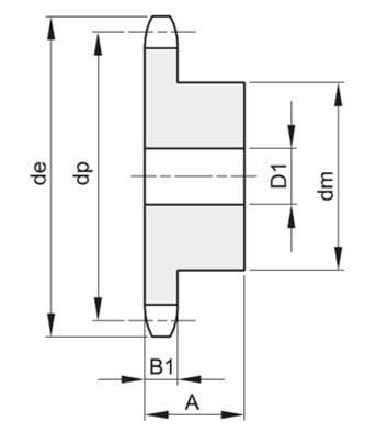 Pignoni semplici per catena a rulli