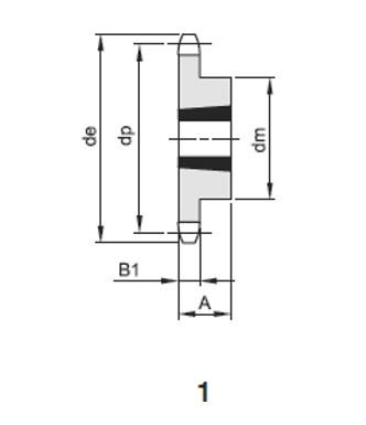 Pignoni sempl x bussola conica 1/2x5/16