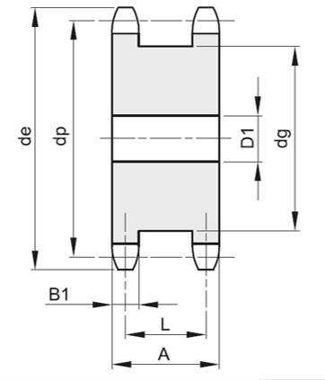 Corone doppie per 2 catene semp 3/8X7/32