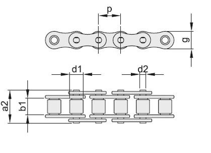 Catene semplici in acciaio Inox Aisi 304