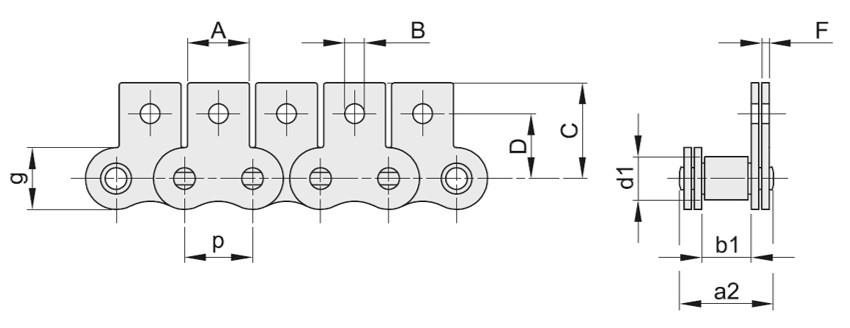 Catene con attacchi verticali M1/01