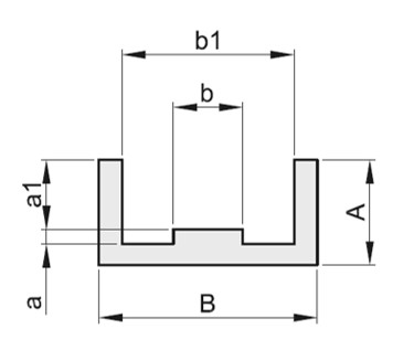 Guidacatena profilo E x catena semplice