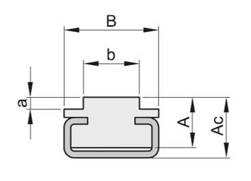 Guidacatene profilo CT x catena semplice